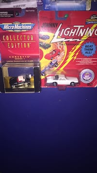 red and white die cast car
