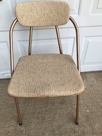 Vintage sturdy padded foldable chairs set of 3 Moore, 73160