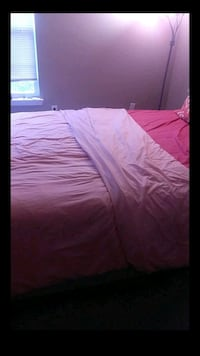 pink and white bed sheet 70 km