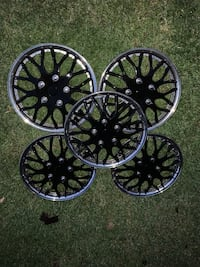 5 black honeycomb wheel covers for 16 inch wheels. Fits any car. Bolton, L7E 2M3