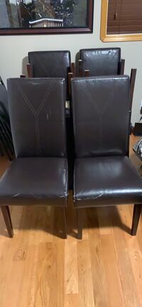 6  faux leather dinning chairs $90 for all Edmonton, T5Z 3B2