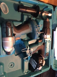 18 V Makita drill and Impact two batteries in case $120.00 obo