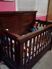 baby's brown wooden crib East Haven, 06512