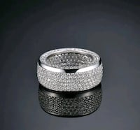 Real 925 Silver Micro Pave Cubic Zircon Rings Men & Women Sz 9 London, N6P 1P6