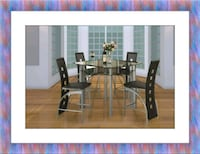Counter height glass dining table 4 chairs Prince George's County