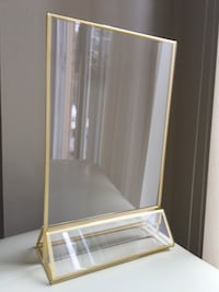"""5"""" x 7"""" gold-lined clear frames Toronto, M2N 7G3"""