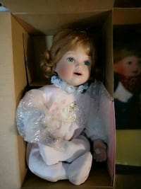 girl doll wearing white dress Edmonton, T5M 0L1