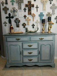 Solid wood buffet cabinet painted in beautiful sto Spring, 77373