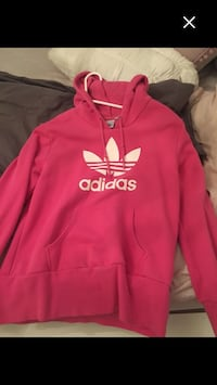 red and white Adidas pullover hoodie Whitby, L1R 0C1