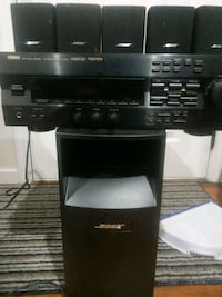Bose surround sound with Yamaha receiver Speakers Stereo system London, 40744
