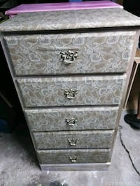 Brown weathered dresser five drawers all work very Fort Worth, 76119