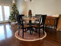 """Sosa 42"""" diameter circular wooden dining table and 4 wooden chairs Gainesville, 20155"""