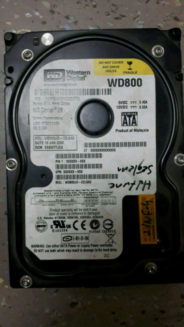Western Digital hard disk 0
