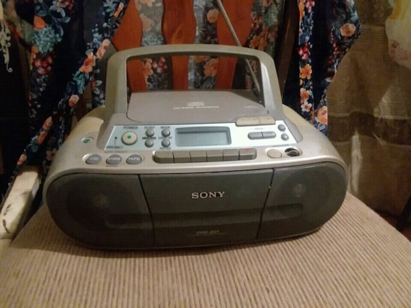 gray and black Sony portable radio