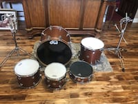 DW Hand Crafted Collectors Series Drum Kit. Color is Satin Oil Marriottsville, 21104