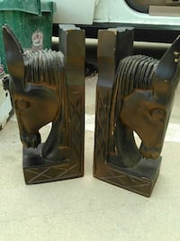 two brown wooden horse shaped decor Cocoa Beach, 32931