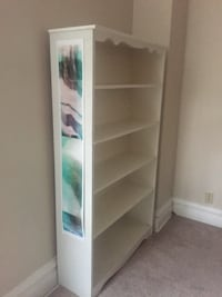 White wooden bookcase well built quality not particleboard 572 mi