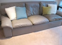Grey Leather Lounge Suite - 3 pieces - 3 seater, 2 seater and 1 seater Asquith, 2077