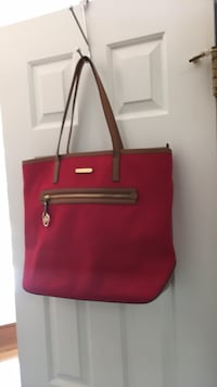Used Michael Kors Large red canvas purse Laurel, 20723