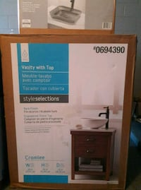 Bark finish vanity with top sink Kissimmee, 34741