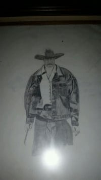 Early 1900 hand drawn picture of( John Wayne ) Shreveport