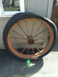 Antique farm wheel Kentwood, 49548