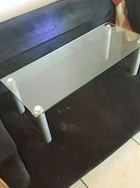 little glass table