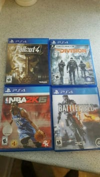 four assorted PS4 game cases Toronto