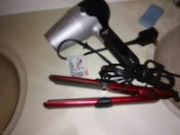 black and red hair curler San Angelo