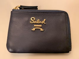 Salad card case coin purse brand new leather