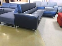 Black leather sectional sofa now sale Phoenix, 85018