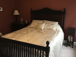 Entire bedroom set with bed, nightstand, and dresser