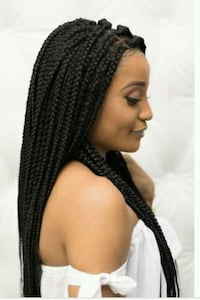 Medium size box braids full and long Baltimore, 21289