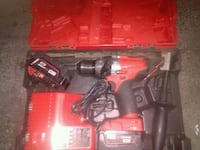 red and black cordless power drill Surrey, V3T 0C2
