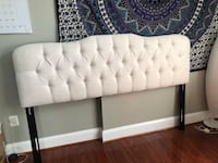 White linen tufted headboard Springfield, 22150