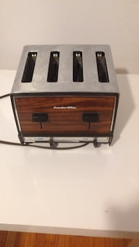 brown and gray 4-slot toaster