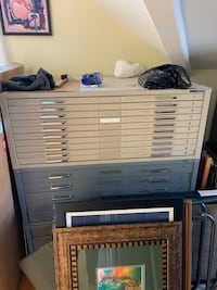 Architect / artist filing cabinets and drafting tables