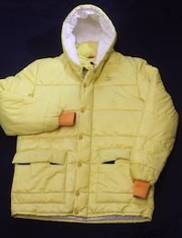 Vintage yellow puma puffer jacket