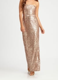 Prom gold BCBG Max gown