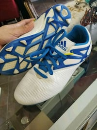 pair of white-and-blue Adidas running shoes Houston, 77077