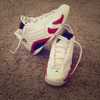White and red Jordan 14 (size 12) Fort Washington, 20744