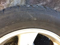 Mags and 3 tires 225/50/R16 use to be on a 2004 Pontiac grand am I do have a spoiler too. Vancouver, V5N