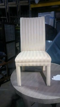 white fabric padded brown wooden armchair Bedford Heights, 44146