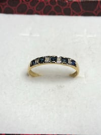 10k Gold Blue Sapphire Ring Size 7 Springwater