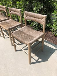 set of 3 outdoor dining chairs Los Angeles, 90049