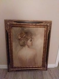 brown wooden framed painting of woman Clearwater, 33765