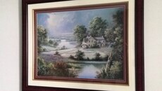Scenic framed print approximately 3.5 X 4ft. Excellent condition. Smoke-free, pet free home