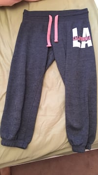 gray and white Los Angeles California jogger pants Brantford, N3T 0A4