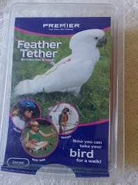 Premier Feather tether bird harness and leash new
