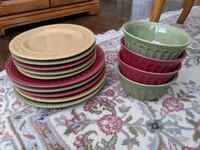 four assorted color ceramic plates Sutton, 01590
